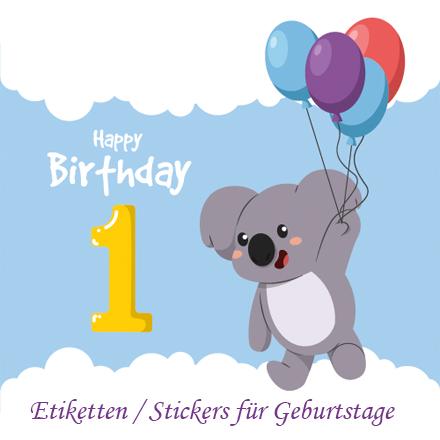 Etiketten / Stickers für Geburtstage