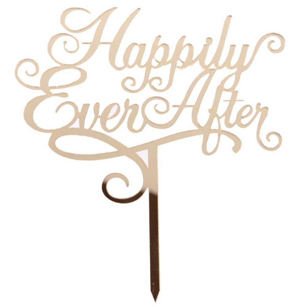Happily Ever After Cake Topper Mytortenland Shop